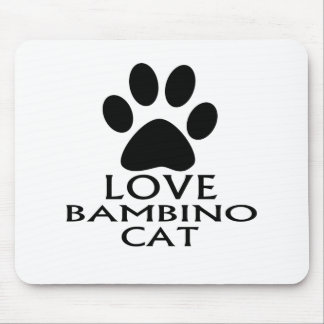 LOVE BAMBINO CAT DESIGNS MOUSE PAD