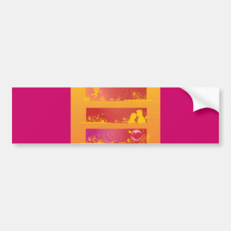 Love-Banners Summer Loving reds hot pinks oranges Bumper Stickers
