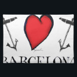 "love barcelona cloth placemat<br><div class=""desc"">Love Barcelona - Stand out from the crowd with unique art from Tony Fernandes Design,  these stunning gifts will make the perfect gift for that someone special who loves all things Nautical…