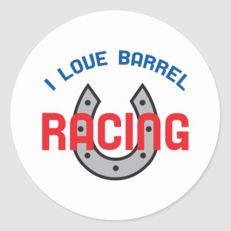 LOVE BARREL RACING ROUND STICKERS