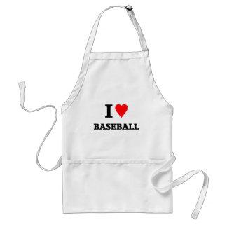 Love baseball adult apron
