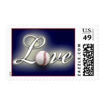 Love Baseball America's Pastime Sport Game Postage