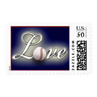 Love Baseball America's Pastime Sport Game Postage