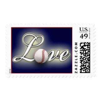 Love Baseball America's Pastime Sport Game Postage Stamp