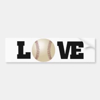 Love (Baseball) Bumper Sticker