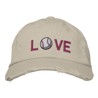 Love Baseball Embroidered Baseball Cap