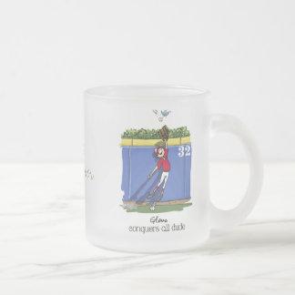Love Baseball man Frosted Glass Coffee Mug