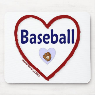 Love Baseball Mouse Pad