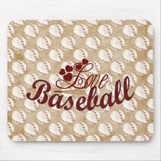 Love Baseball Mouse Pad