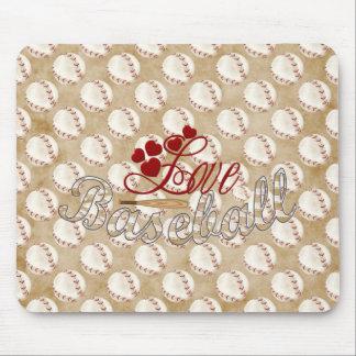 Love Baseball Mousepads