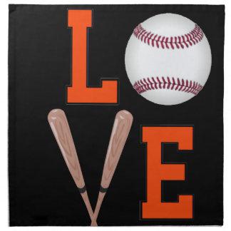 Love Baseball (Orange & Black) Napkin