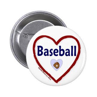 Love Baseball Pinback Button