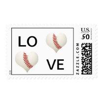 Love Baseball Postage