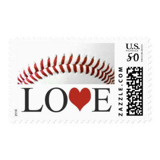 Love Baseball Postage Stamps