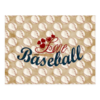 Love Baseball Postcard