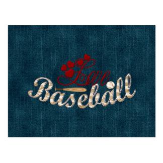 Love Baseball Postcard