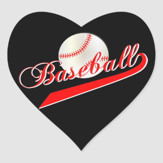 Love Baseball | Red Heart Sticker