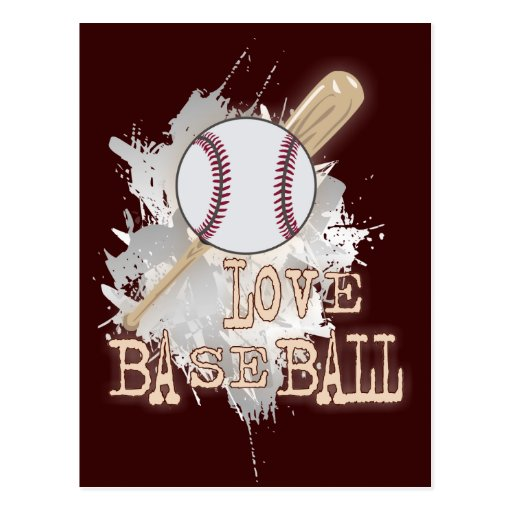 'LOVE BASEBALL' sport  Postcard