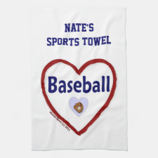Love Baseball - Sports Towel (Personalize)