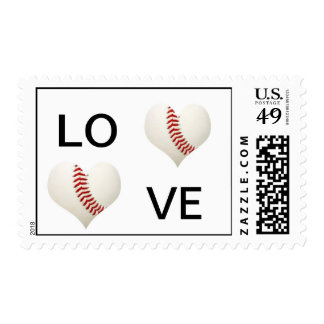Love Baseball Stamp