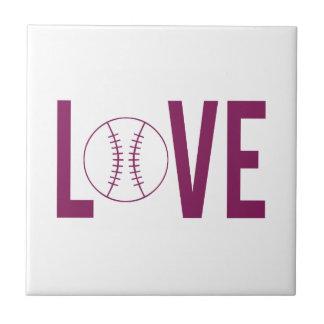 Love Baseball Tile