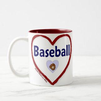 Love Baseball Two-Tone Coffee Mug