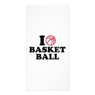 love Basketball ball Personalized Photo Card