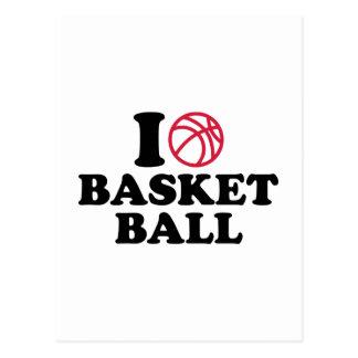 love Basketball ball Postcard