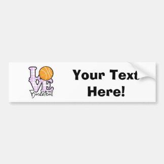 Love Basketball Car Bumper Sticker
