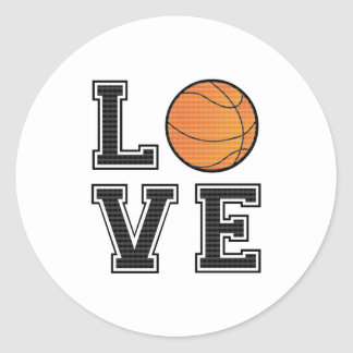 Love Basketball Classic Round Sticker