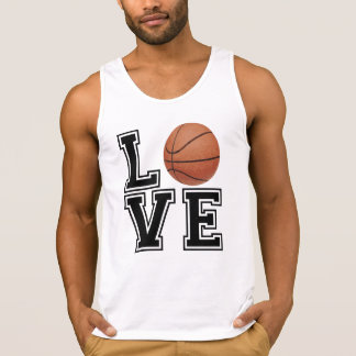 Love Basketball College Style Tank Top
