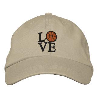 LOVE Basketball Embroidered Baseball Cap