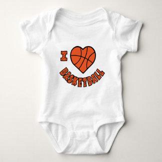 Love Basketball, orange Baby Bodysuit