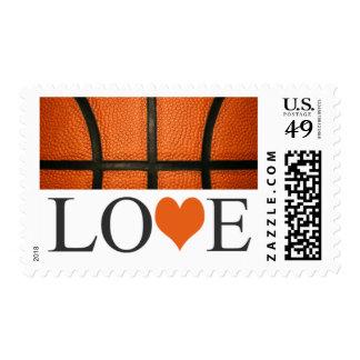 Love Basketball Postage Stamps