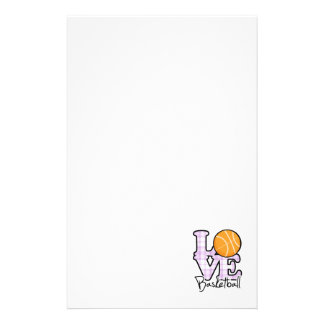 Love Basketball Stationery