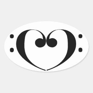 Love Bass Oval Sticker