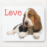 Love Basset Hound Puppy Dog Computer Mousepad