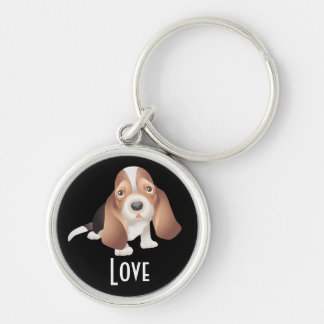 Love Basset Hound Puppy Dog Key chain