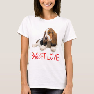 Love Basset Hound Puppy Dog Tee Shirt