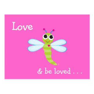 Love & Be Loved Cute Dragonfly Card