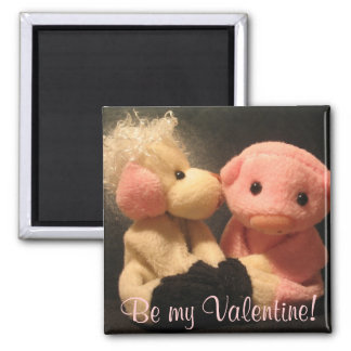 Love, Be my Valentine! 2 Inch Square Magnet