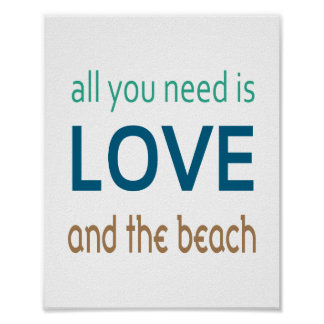 Love Beach Poster (standard picture frame size)