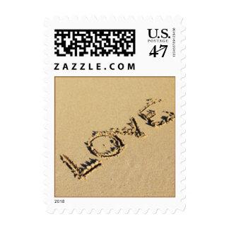 Love Beach Wedding Stamp