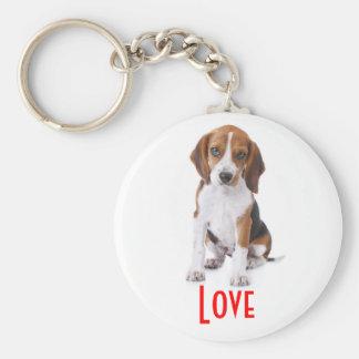 Love Beagle Puppy Dog Customized  Key Chain