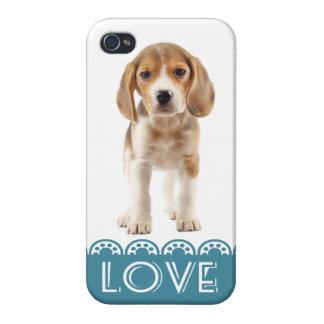 Love Beagle Puppy Dog iPhone 4 Retro Cover Case