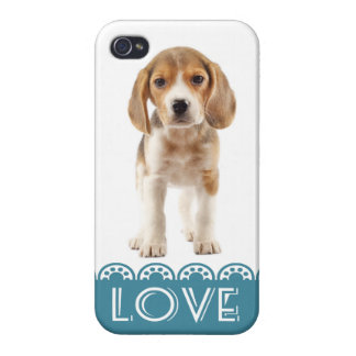 Love Beagle Puppy Dog iPhone 4 Retro Cover Case Cases For iPhone 4