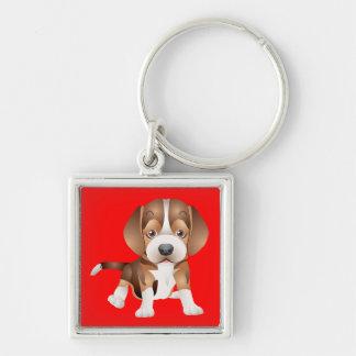 Love Beagle Puppy Dog Red Key Chain