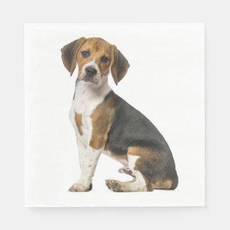 Love Beagle Puppy Dog Wedding Party Napkin