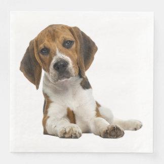 Love Beagle Puppy Dog Wedding Party Paper Dinner Napkin