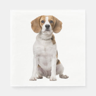 Love Beagle Puppy Dog Wedding Party Paper Napkin